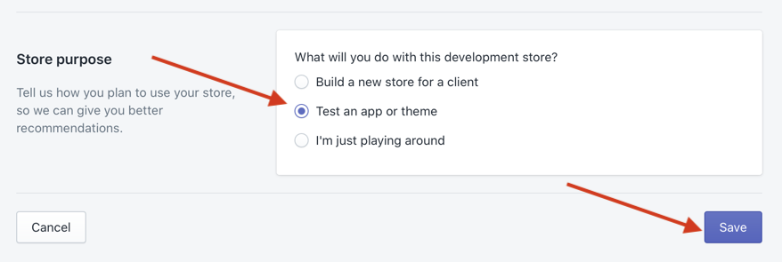 create development store 3
