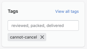 cannot cancel tag