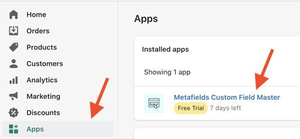 open metafields app