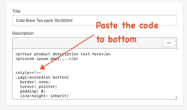 Paste code